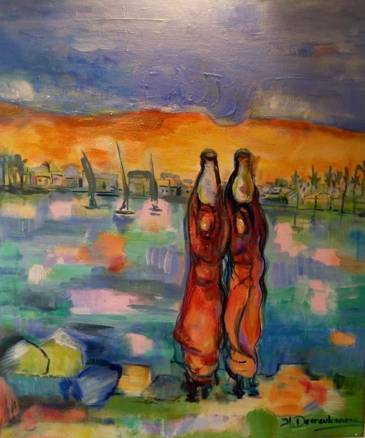 Egypte3 -Peinture-Acrylique sur toile-65cm/54cm
