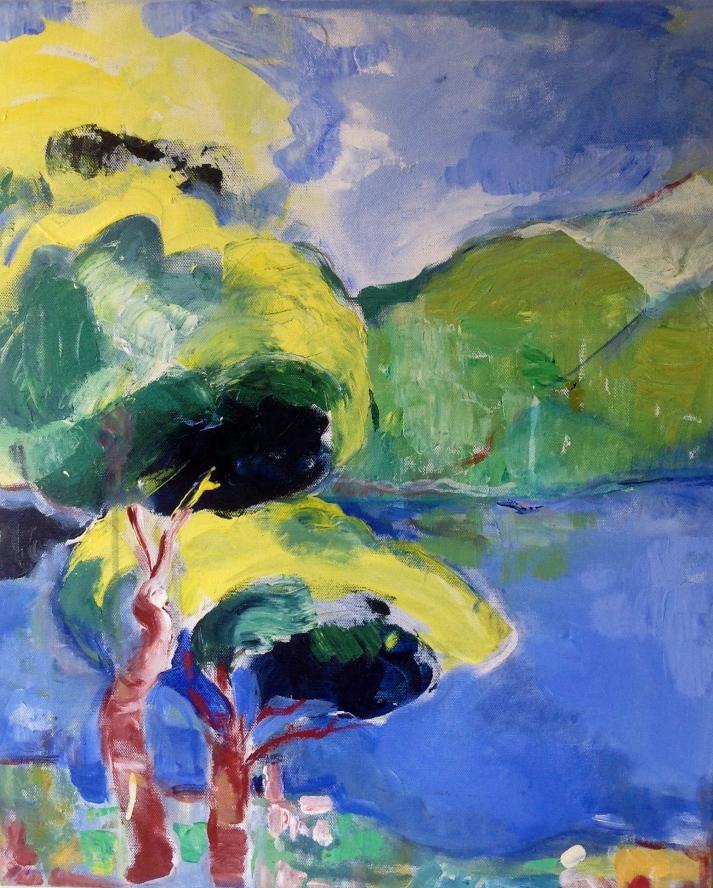 Méditerranée1-Peinture-Acrylique sur toile-65cm/54cm