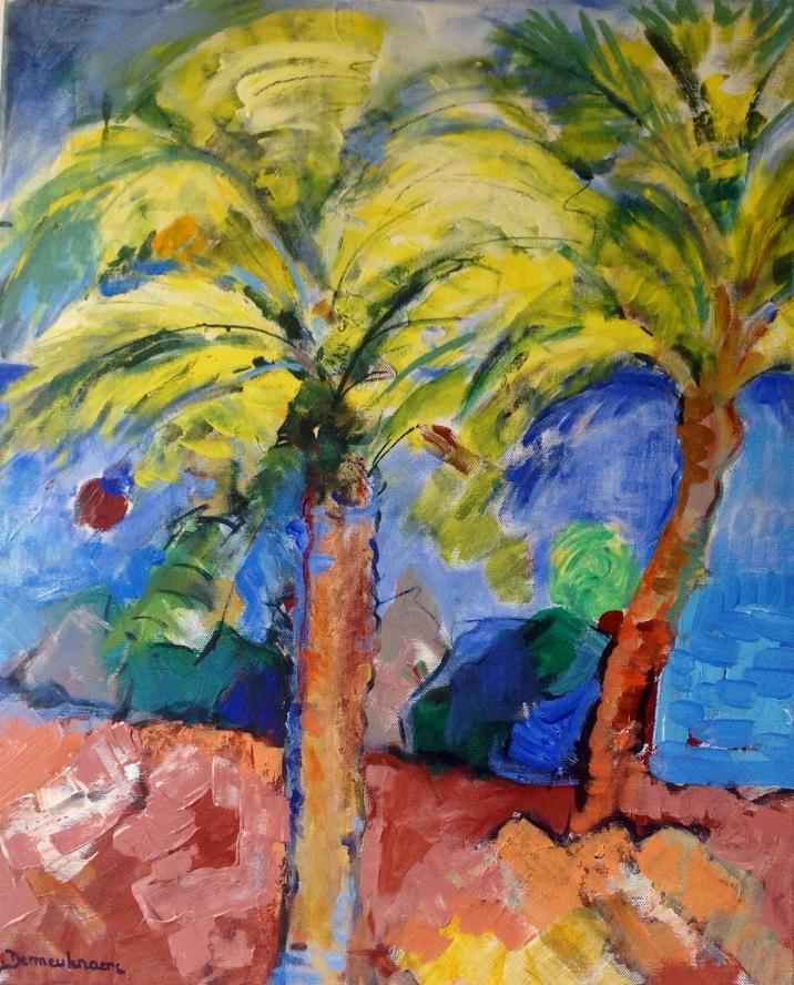 Palmbeach1-Peinture-Acrylique sur toile65cm/54cm