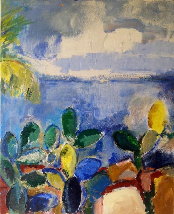 Palmbeach2-Peinture-Acrylique sur toile65cm/54cm