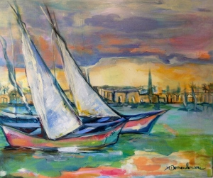 Egypte2 -Peinture-Acrylique sur toile-65cm/54cm