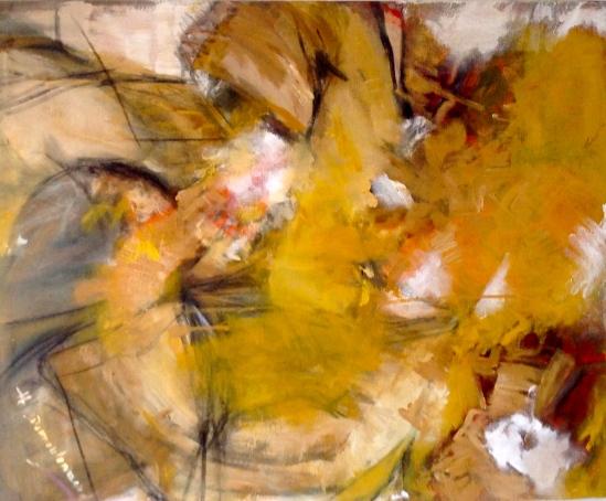 Symphonie n°40-Acrylique et fusain sur toile
