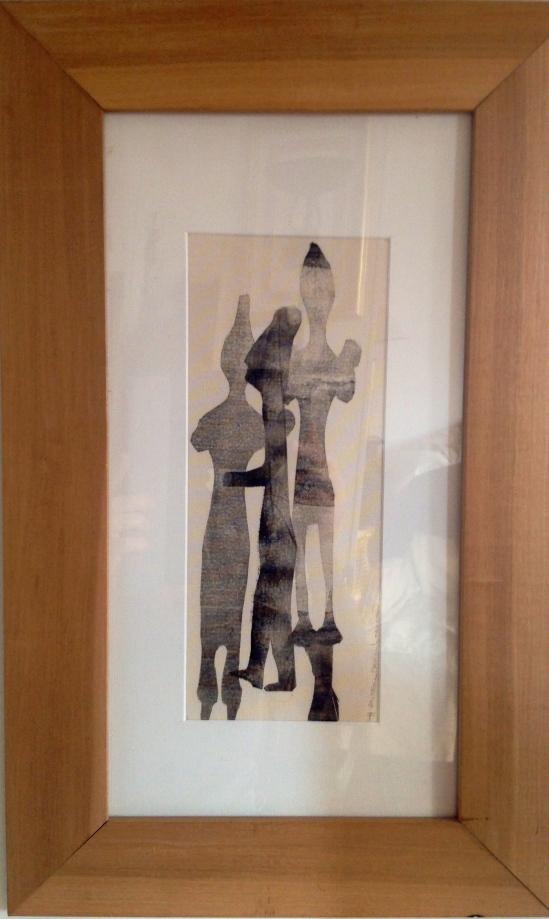 Linogravure sur papier -Pièce unique-