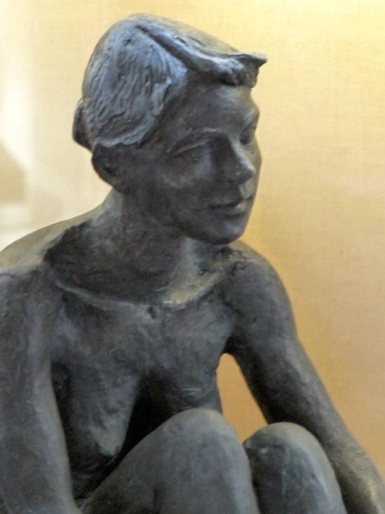 Nu1-Figuratif-sculpture-terre cuite patinée bronze