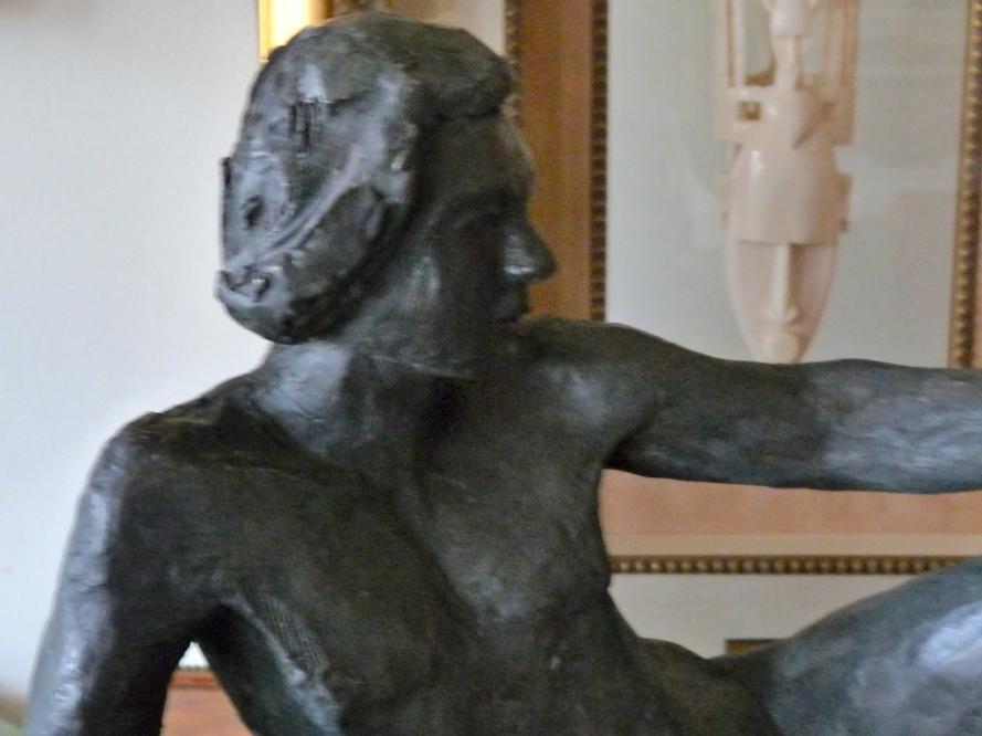 Pierre-Sculpture-Terre cuite patinée bronze-Pièce unique-H27/L38/P45cm-Fait main-Oeuvre unique-