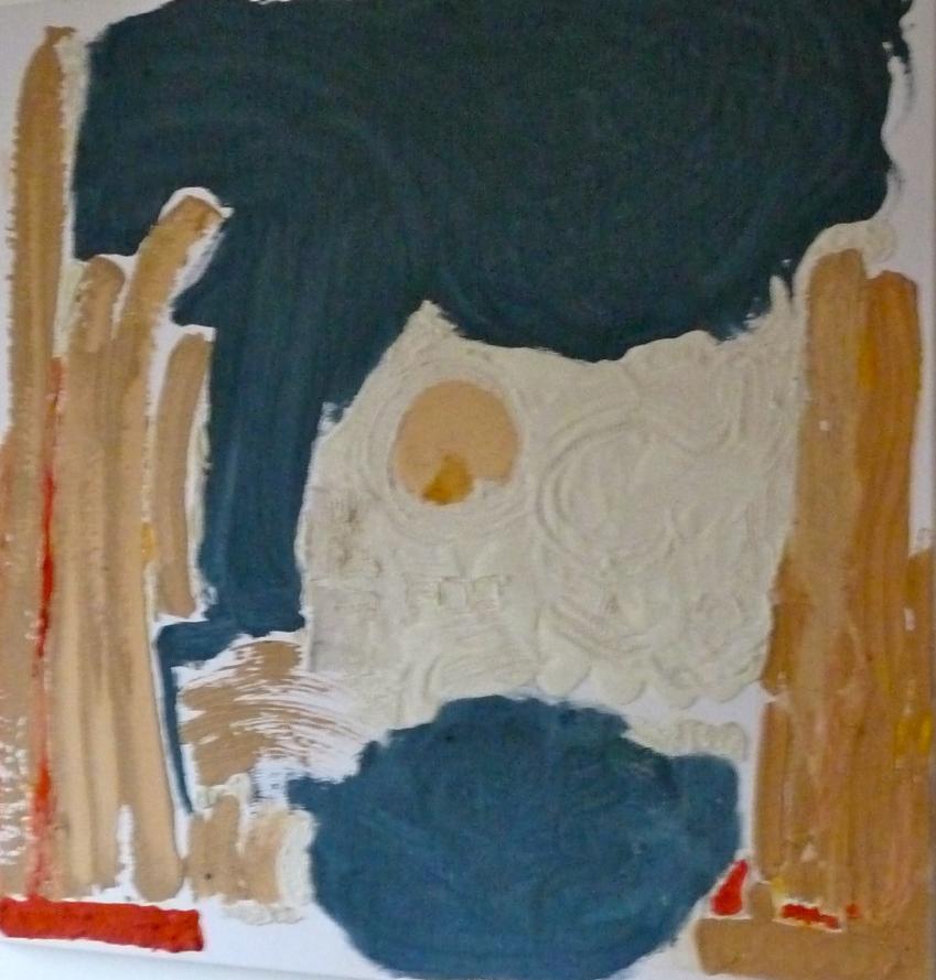 Tokyo-Peinture-Techniques mixtes-100cm/100cm/5cm Abstrait-