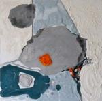 Routes-Peinture abstraite-Techniques mixtes -40cm/40cm
