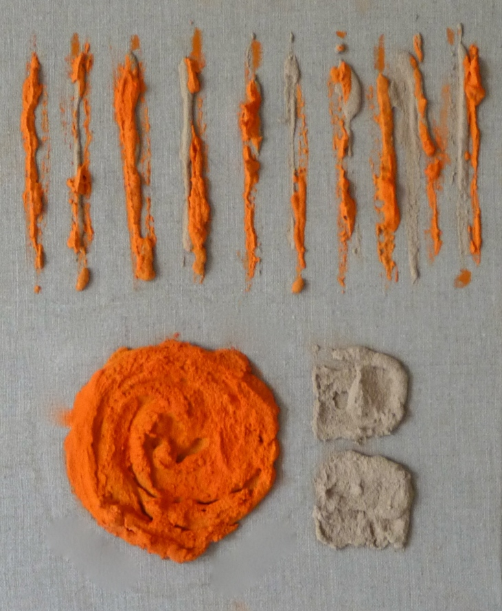 Eclosion -Peinture-Techniques mixtes -Fait main-Oeuvre unique-20/20cm