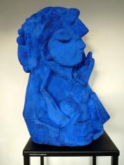 """Juliana-Sculpture-déstructuré-Terre cuite-Patine Bleu"""" H40/L/Pcm-Fait main-Pièce unique"""