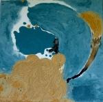 Big Bang3-Peinture-Techniques mixtes-30cm/30cm Abstrait-Oeuvre unique- Fait main