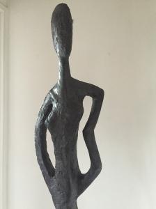 Melinda - Plâtre sur armature -Patine bronze - 190cm/36cm
