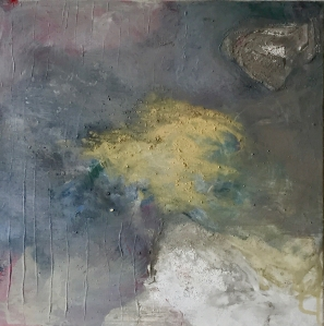 Brume V - - Acrylique sur toile -40/40cm