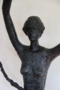 Eve II sculpture bronze art contemporain 154/68/22cm.
