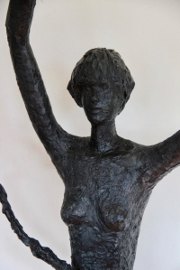 Eve II sculpture bronze art contemporain 154/68/22cm.
