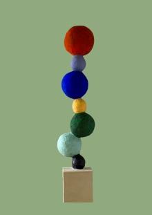 Equilibre 1,80m Plâtre, métal et bois