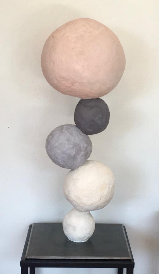Equilibre 1 - Terre cuite stuquée 56/25/25cm