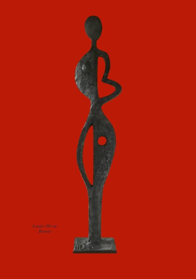 Louise - 185 cm Bronze ou Résine
